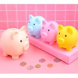 小豬造型存錢筒 創意多色可愛小豬存錢筒 小豬公 耐摔存錢筒