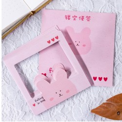 花邊鏤空便利貼 創意小清新邊框便利貼 手帳N次貼 創意造型便條紙